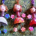 trois filles en fleur