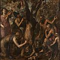 Titian, the flaying of marsyas, probably 1570s