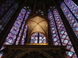 17 Verrieres, vitraux et hotel, chapelle haute, Sainte chapelle de Paris 021