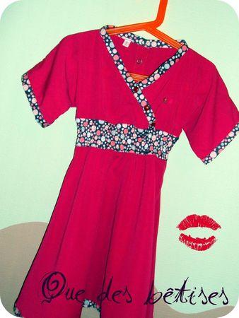 robe fushia