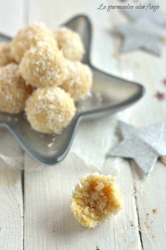 recette de Noël - truffes crues noix de cajou, citron et noix de coco 1