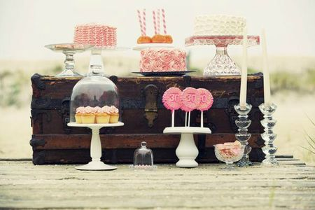 sweet table romantique