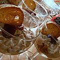Verrine saumon philadelphia ketchup sur lit de
