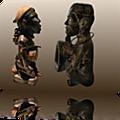 Le fétiche ancestral du dieu legba qui vomie de l'argent