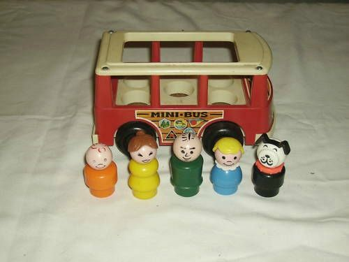 Fisher Price bus and people