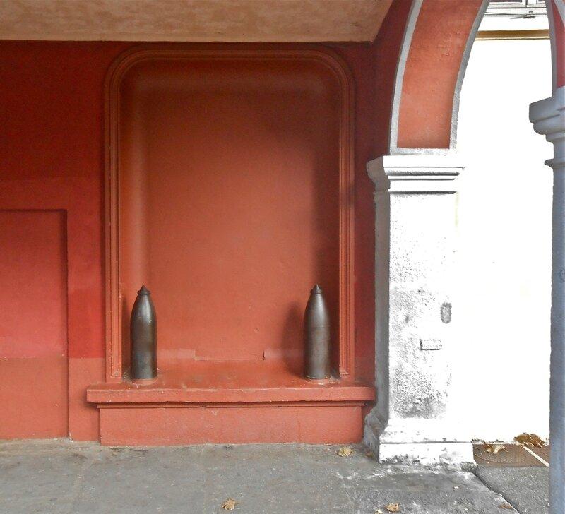 emplacement de la plaque mur mairie