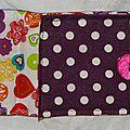 13. pochette à stylos en toile enduite violette -intérieur color