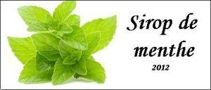 étiquette sirop de menthe