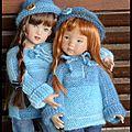 Petites soeurs ,l'hiver en bleu