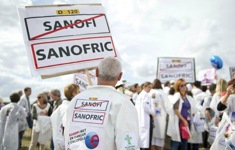 Il est vrai que les salariés de Sanofi, eux, sont un peu moins câlinés, depuis un mois ils font grève à l'usine de Sisteron.