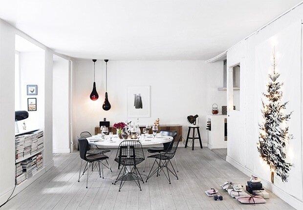 une d coration de no l minimaliste c 39 est bient t no l. Black Bedroom Furniture Sets. Home Design Ideas