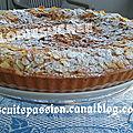 Tarte amandine aux myrtilles fraîches