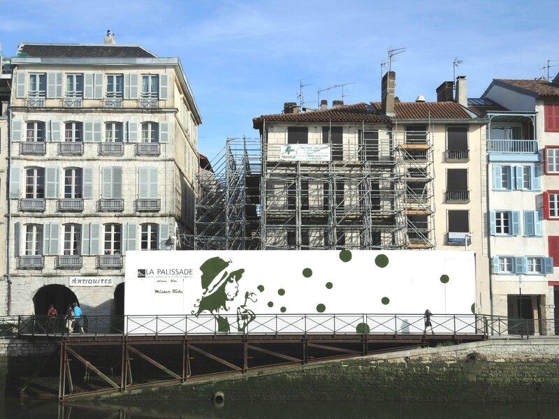 Bayonne, fresqaue de travaux (64)