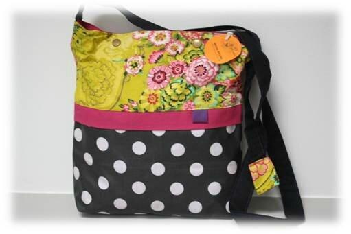sac tissu fleurs