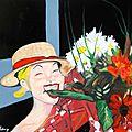 La rigolote (huile sur toile) 65 x 54 cm