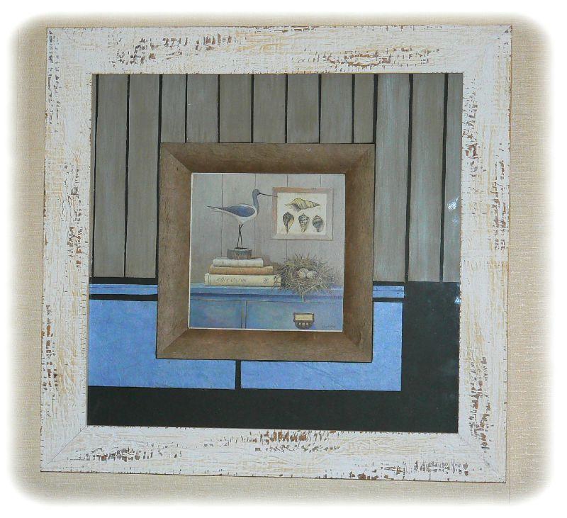 cadre mouette photo de dans un cadre 1 jour 2mains hmb cr ations. Black Bedroom Furniture Sets. Home Design Ideas
