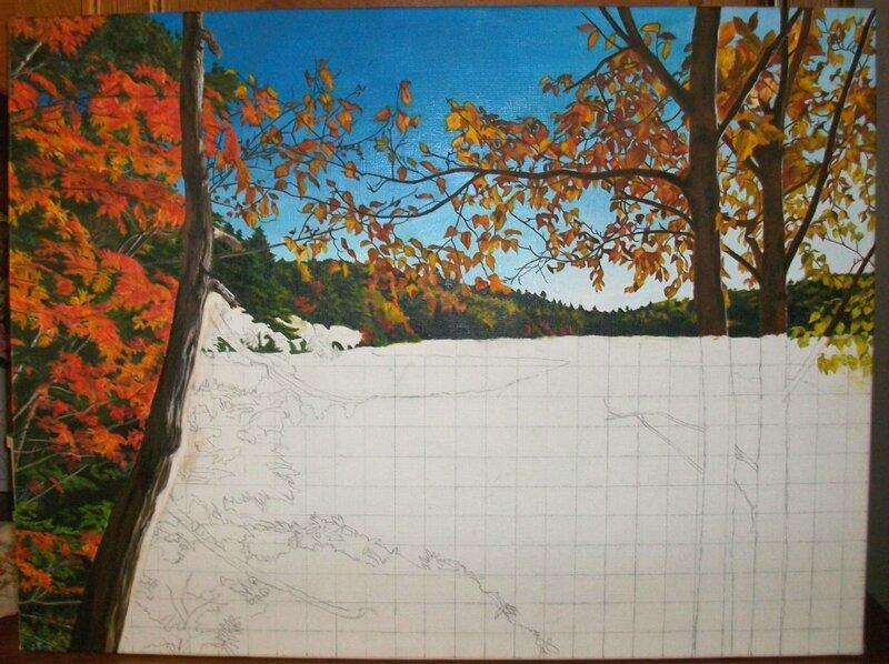 lac en automne