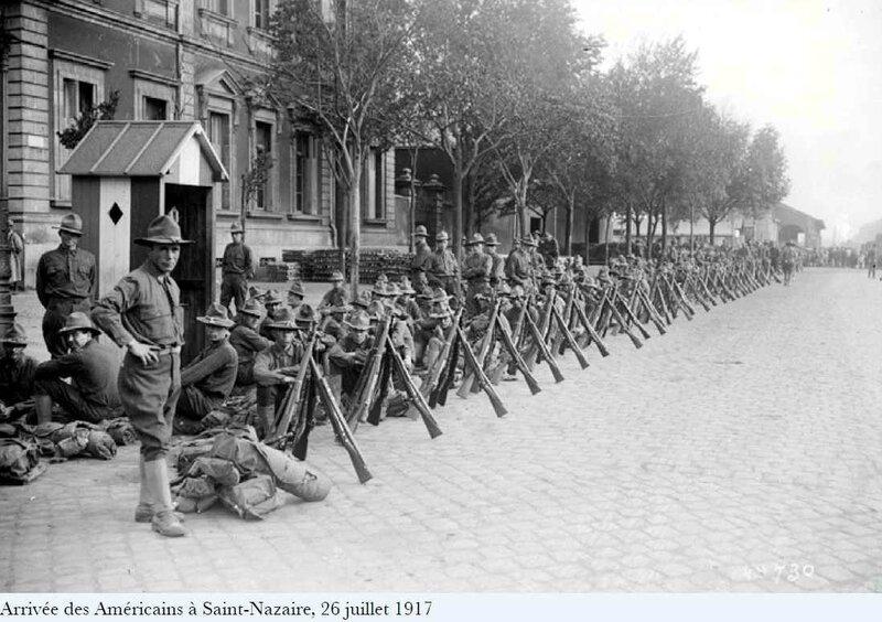Arrivée des amércains 1917 St Nazaire
