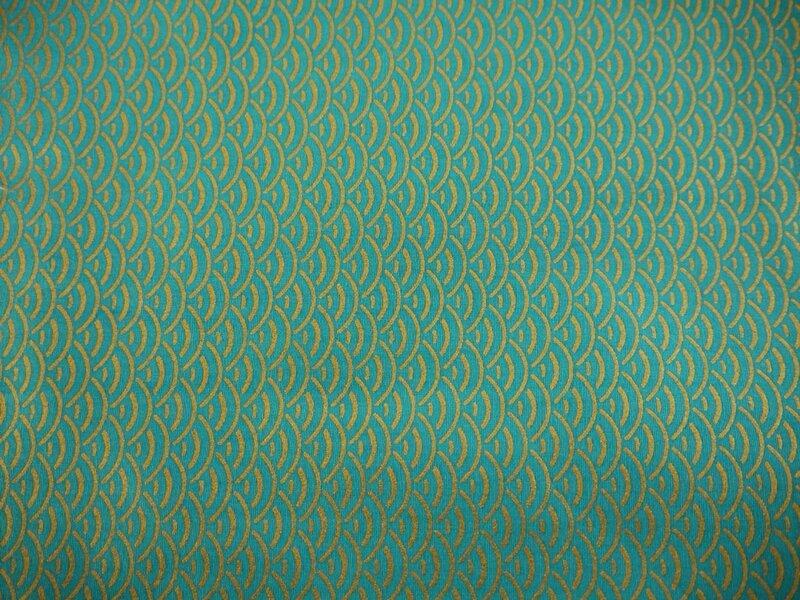 liberty japon écaille turquoise