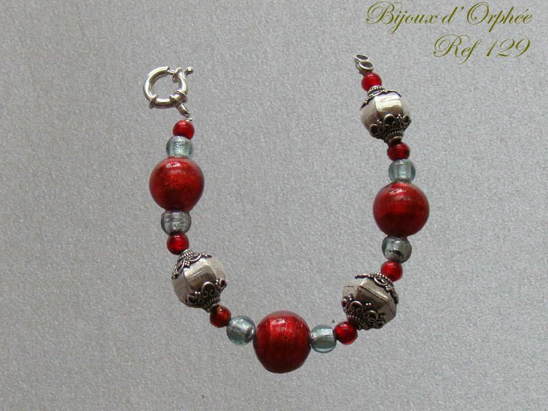 creation bracelet fantaisie murano rouge perle argent photo de creations bracelets fantaisie. Black Bedroom Furniture Sets. Home Design Ideas