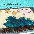 Gâteau plage de sable fin