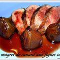 MAGRETS DE CANARD AUX FIGUES CONFITES