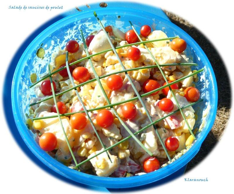 salade de saucisses de poulet