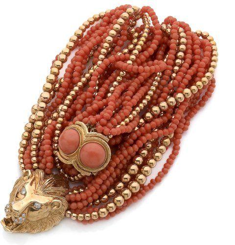 Bijoux corail et or