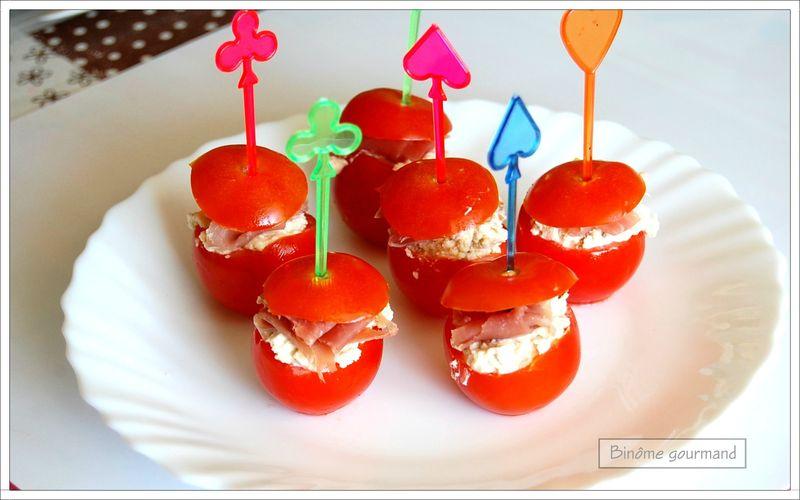 tomates cerises au boursin et au jambon cru bin me gourmand. Black Bedroom Furniture Sets. Home Design Ideas