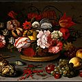 Balthasar van der Ast, Basket of Flowers, c. 1622