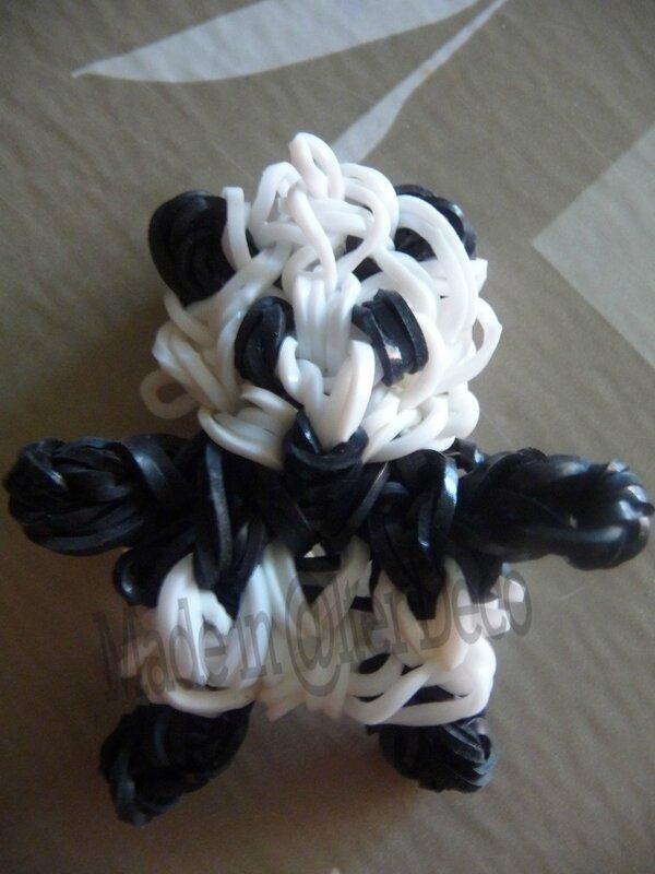 Panda en élastiques