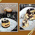 Moka cheesecake (caf chocolat blanc & noir)