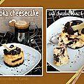 Moka cheesecake (café chocolat blanc & noir)