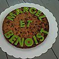 Cookie géant d'anniversaire aux deux chocolat!
