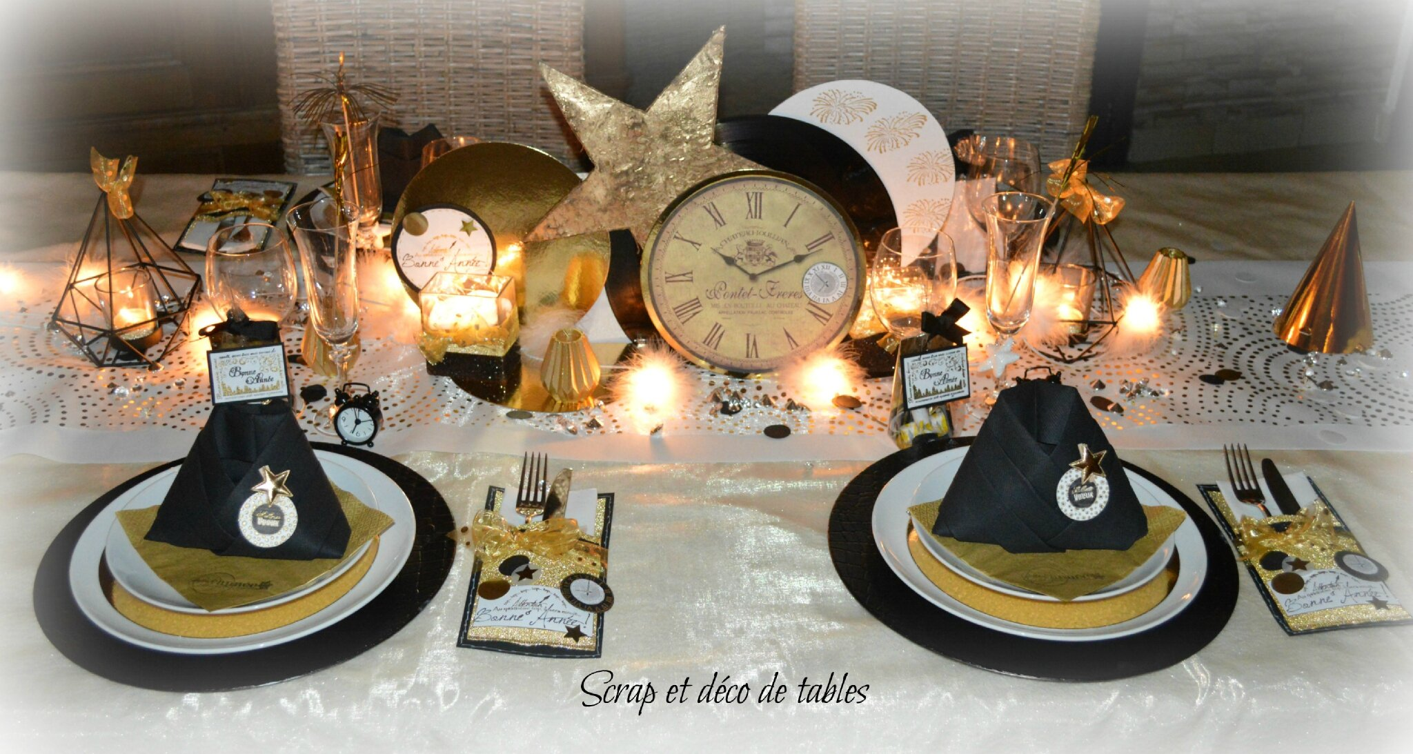 Deco de table nouvel an 2016 scrap et d co de tables for Decoration reveillon nouvel an