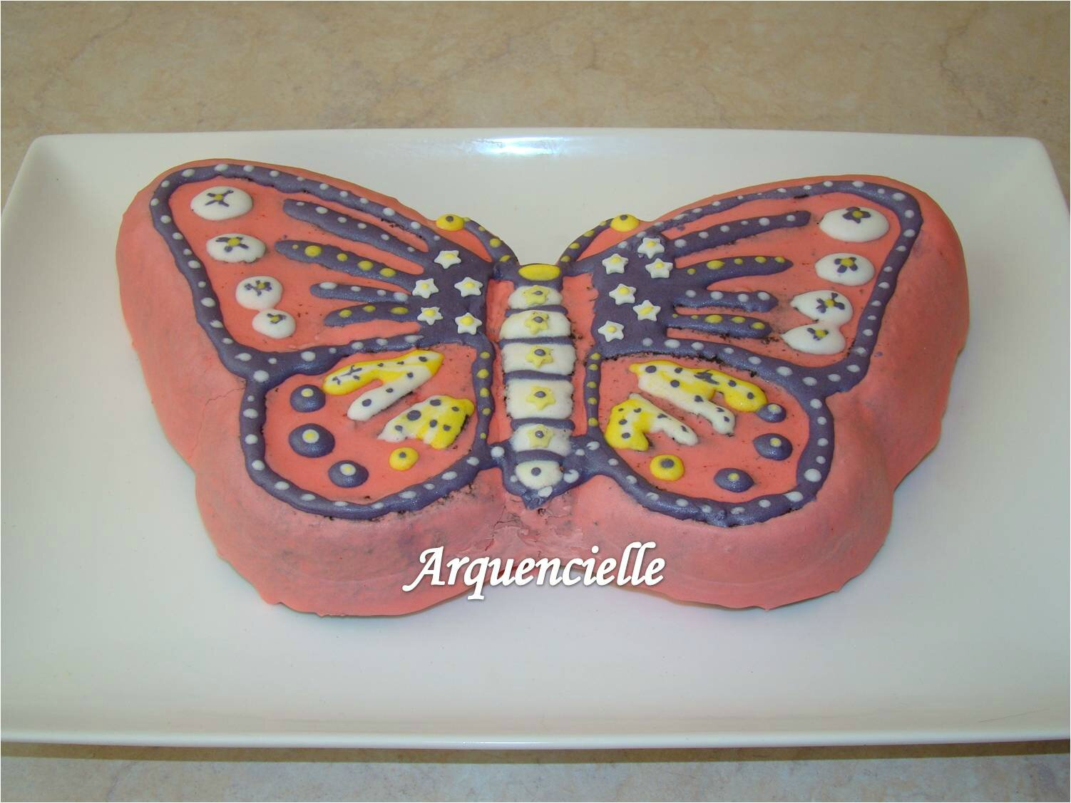 Gateau papillon 3d