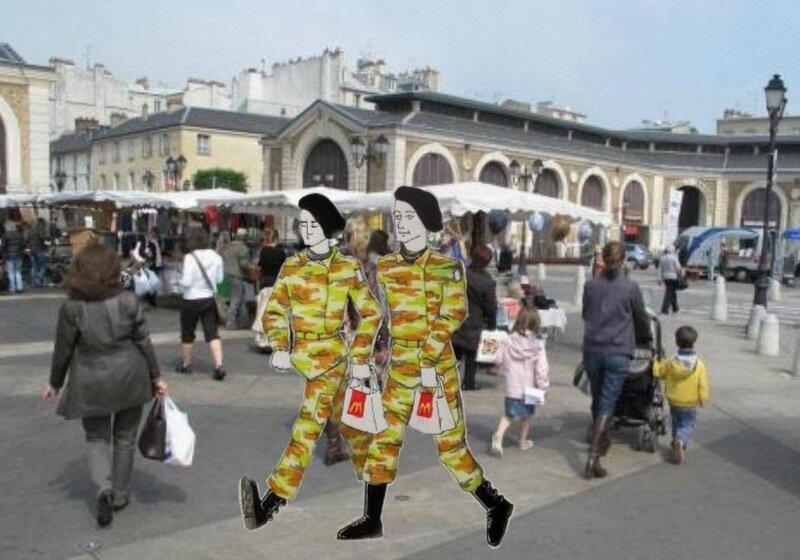 Intermède au passage piéton de Versailles