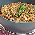 Lentilles à l'indienne ou dahl (coriandre, curry, curcuma, gingembre et lait de coco)