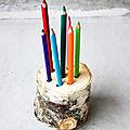 Deux pots à crayons naturels (diy)