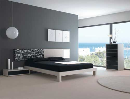 Chambre design noir et blanc photo de chambres design for Decoration chambre design