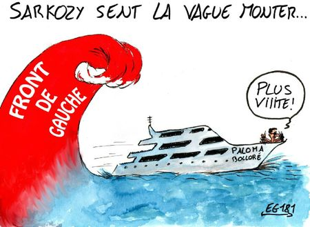 Sarkozy sent la vague monter