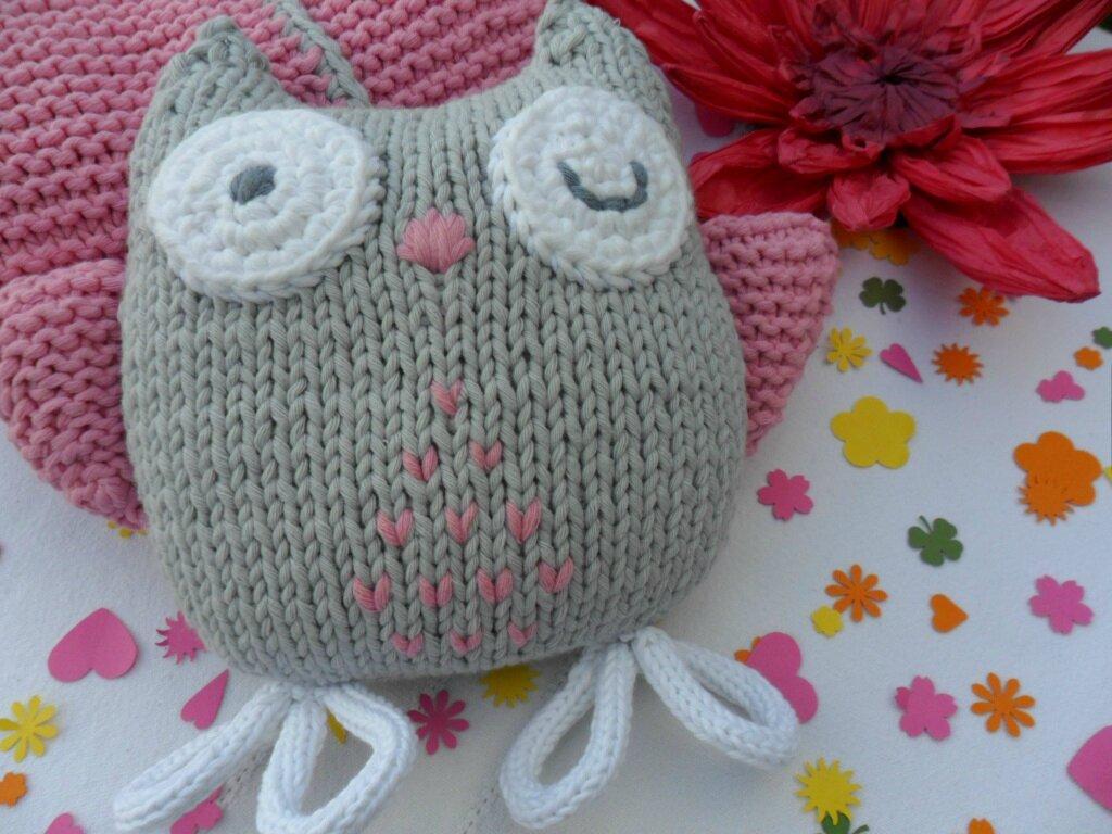 Modele tricot doudou chouette - Doudou facile a realiser ...