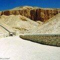 La Vallée des Rois où se trouve le tombeau de Ramsès II