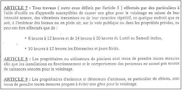 nuisances sonores site du ciq luynois - Nuisances Sonores Piscine Voisinage