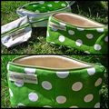 page trousse pois verts