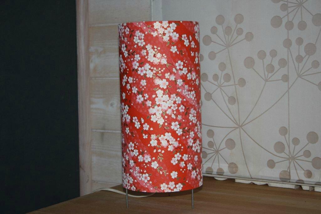 lampe a poser en papier japonais