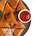 Bricks crevettes, pommes de terre et fromage