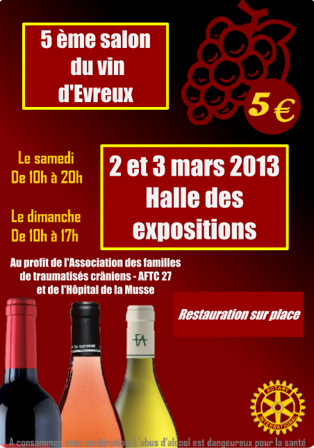 Salon du vin d 39 evreux france 27 for Salon du vin champerret