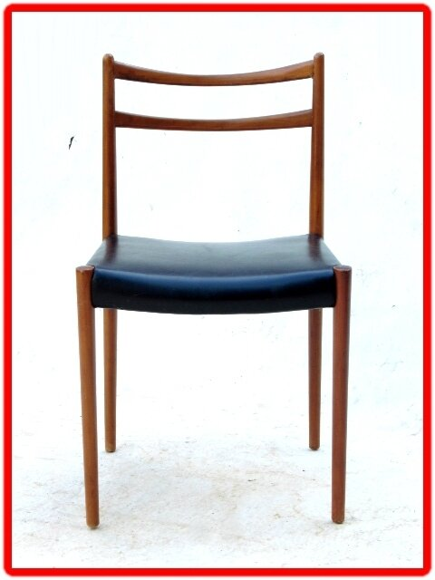 Chaises teck clair LUBKE 1960 design scandinave