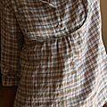 blouse à carreaux couture nature